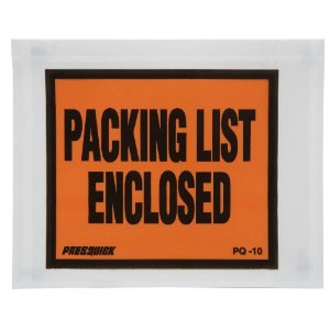 4-1/2X5-1/2 PACKING LIST ENCLOSED SOLID 100/PK